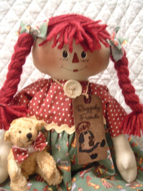 Primitive Cute Old Toys Raggedy Ann type Doll