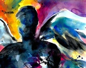 Angel No 2 ... Abstract print from original painting like one featured in West Elm Catalog by Kathy Morton Stanion EBSQ