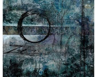 ZEN - Original Contemporary Modern Mixed Media art OOAK painting EBSQ