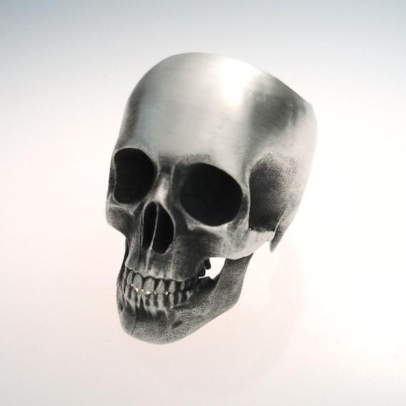 the full skull ring in sterling silver...reserved for eishalfernandes