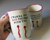 Two Custom Vampire Mugs for Bond 83