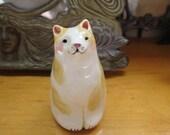 Mini Cat Rattle - Handsculpted Ceramic Kitty