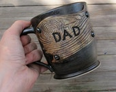 Rustic Mug for Dad on Father's Day - Hand thrown stoneware