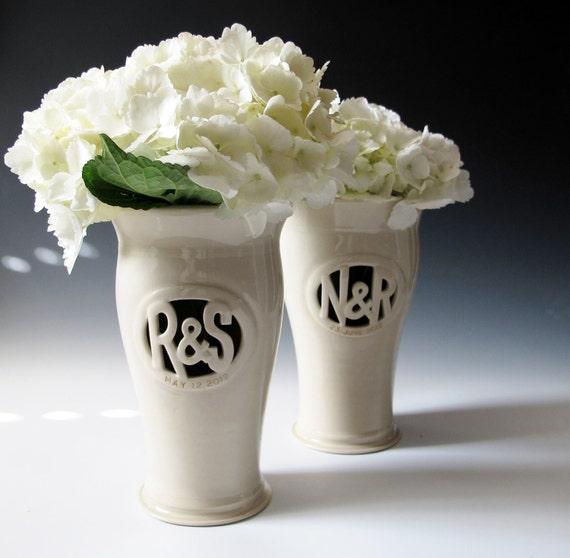 Gift Registry for Jessie & Scott - Monogram Vase
