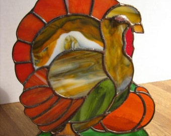 Stained Glass Turkey Thanksgiving Decoration Turkey Suncatcher