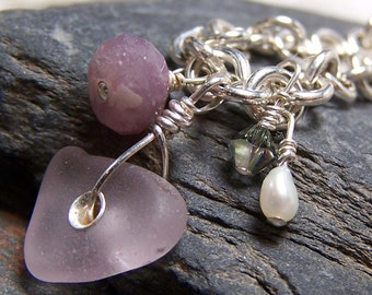 The BRIDESMAID - Sea Glass Bracelet