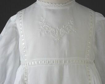 Baptism Dress , Christening Gown & Bonnet Swiss Cotton - Trinity