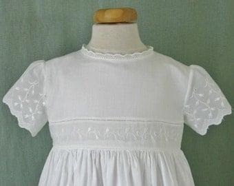 Heirloom Christening Gown, Bonnet - Lilies