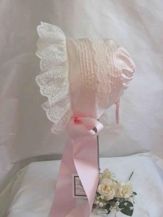 Handmade Baby Bonnet - Easter, Shower, Welcome Gift