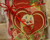 Box of 6 Vintage Inspired Valentines with Envelopes