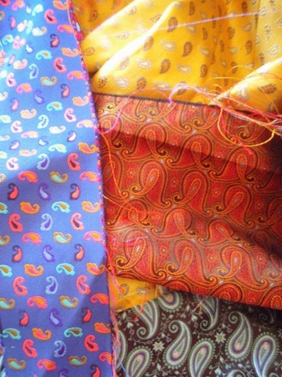 Priority Box Stuffed with Mixed Italian Silk Fabrics