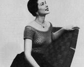Vanity Fair Evening Blouse - Vintage Knitting Pattern - 1950s - PDF eBook
