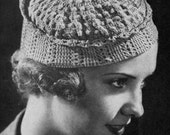 Toque Beret - Vintage 1930s Crochet Hat Pattern