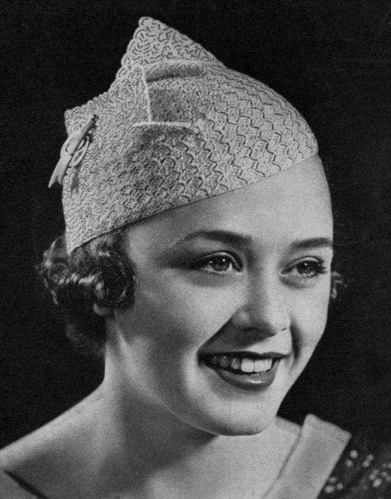 Winged Beret - Vintage 1930s Crochet Hat Pattern