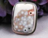 SALE Silver Jasper ring Size 8 - Anemone
