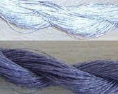LAST AVAILABLE - Silver retro-reflective YARN  - 200m hank