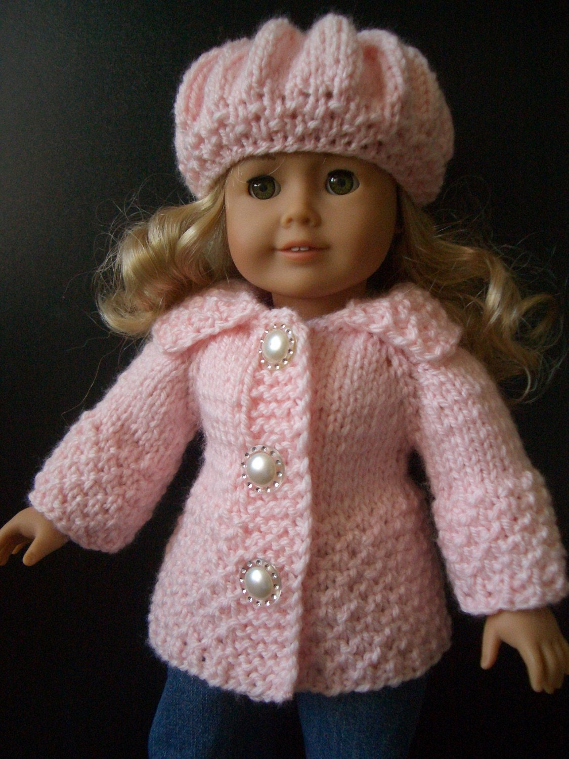 Knitting Patterns For Ag Dolls : Knitting Pattern with VIDEO for AMERICAN GIRL 18 inch doll