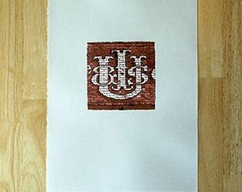 Utah Ice and Storage Letterpress Print