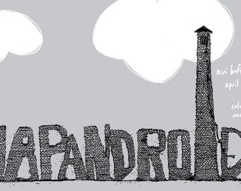 Japandroids concert poster - hand-pulled screen print