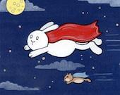Super Hero Bunny Art Limited Edition Print Super Friends