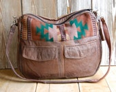 Aged Brown Tundra with navajo fabric