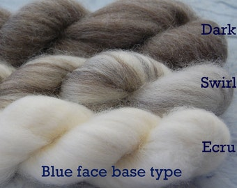 DARK BROWN Blueface Base Naked Top - undyed and natural Dark Brown