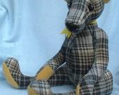Wooley Bear, a 13 inch heirloom bear sewing pattern, PDF