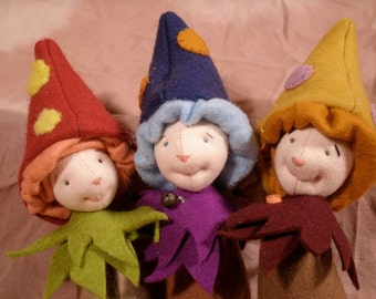 Hapenny Magick, Toadstool Hobgoblins, new sewing pattern for 2012, digital download