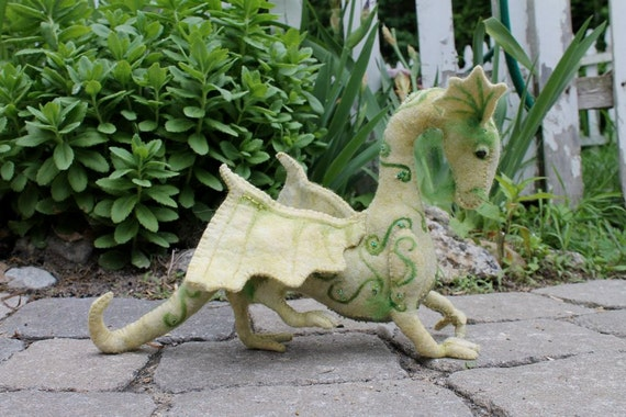 New sewing pattern for Jewel Dragon, hand sewn from felt