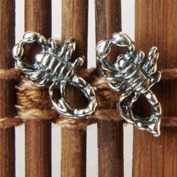 scorpion  silver stud earrings