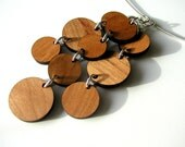 SOLID necklace - cherry wood