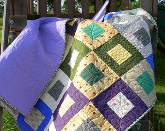 Beautiful quilted lap quilt