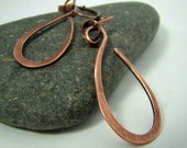 Copper Tear Drop Earrings