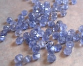 Natural Iolite Beads, Blue Faceted 3.5mm Rondelles, Set of 20 Gemstones for Making Jewelry (L-Io2)