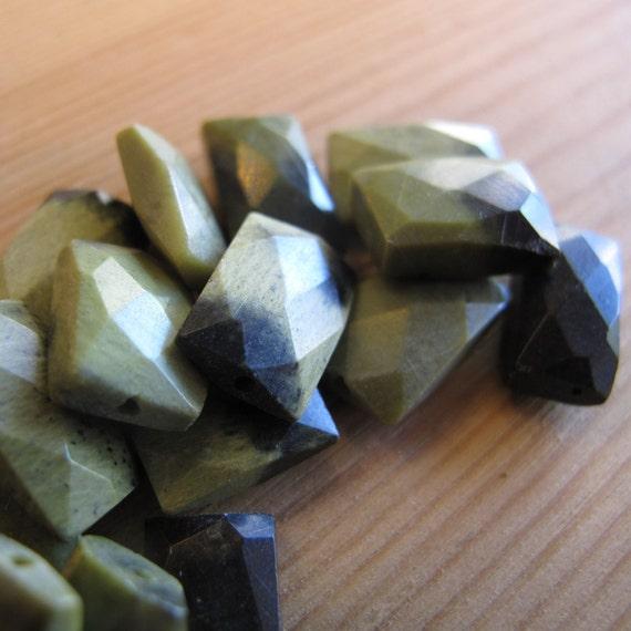 10 Jasper Beads, Natural Gemstone Beads, Chita Jasper Chicklets, 10 Count Bag, Loose Gemstones for Making Jewelry (L-Jas3)