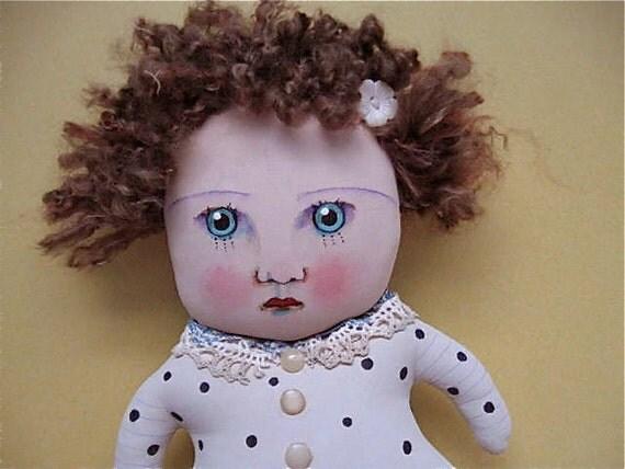 ooak art doll Plain Jane- original- ooak doll