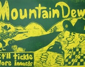Mountain Dew Hillbilly  Woodcut