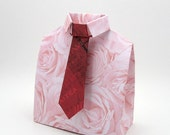 PICK 3 Favor/Gift Boxes, Gift Card Holders, 3-D Origami Shirt with Tie (set of 3)