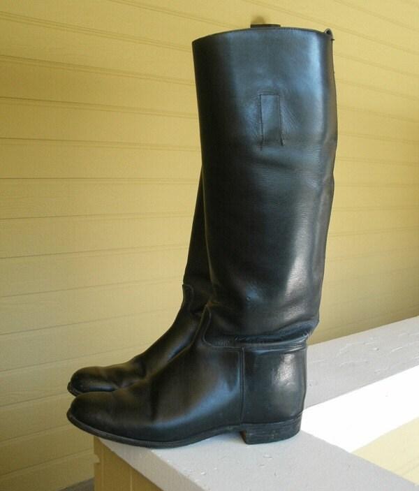Sale Vintage English Riding Boots Marlborough 7 5 Uk 9 Us Tall