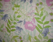 WIldwood..from Erin McMorris.. Checked Floral in Green, FAT QUARTER