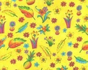 ZIPPY JUNGLE in Yellow by Sue Zipkin, Last 45.5 Inches