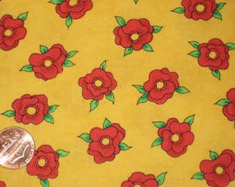 SALE..  from Needlework Diva's Red Flowers on Yellow