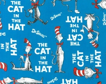 The Cat in The Hat by Dr Seuss from Robert Kaufman, Book Cover in Blue, Yard