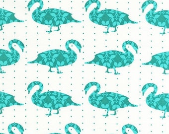 NEW Laurie Wisbrun, Modern Whimsy Goose Fabric in Park ,half  yard