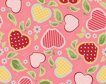 NEW from Riley Blake, Apple of my Eye by The Quilted Fish, Apple Basket Pink, LAST 54 Inches