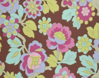 Amy Butler Fabric,  Cutting Garden in Mocha, Gypsy Caravan collection, yard