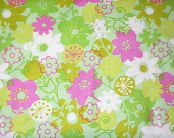 End of Year SALE..Wildwood from Erin McMorris.. Flower Shower in Fuchsia, yard