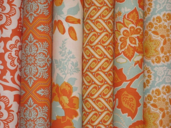 Heirloom combo in Amber by Joel Dewberry, Free Spirit Fabrics, fat Quarters
