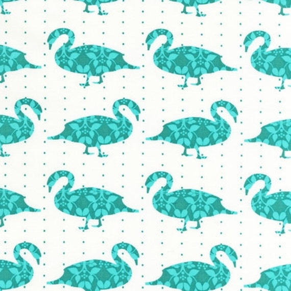 Laurie Wisbrun, Modern Whimsy Goose Fabric in Park , 1/2 yard