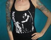 Bad Religion punk upcycled halter top made from a salvaged t-shirt Medium